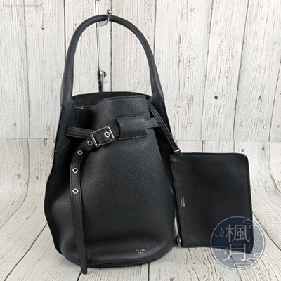 CELINE 舊版LOGO 深灰色 BUCKET BIG BAG 水桶包 手提包 手袋