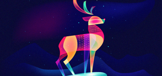 Fantasy Light Reindeer by Ilya Shapko