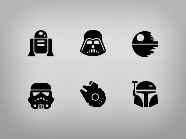 Star Wars Glyphs by Jory Raphael