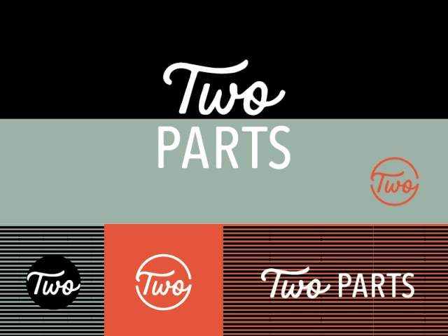 Two Parts Logo by Amy Hood - Hand Drawn Logo Design Trend