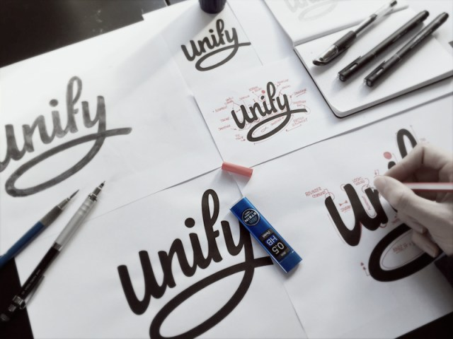 "Revising ""Unify"" by Paul von Excite - Hand Drawn Logo Design Trend"