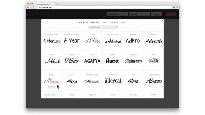 Monotype Web Font Platform