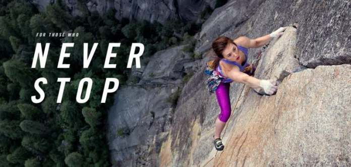 The North Face unveils first-ever global brand campaign, 'Never Stop,' to change the way people view exploration.