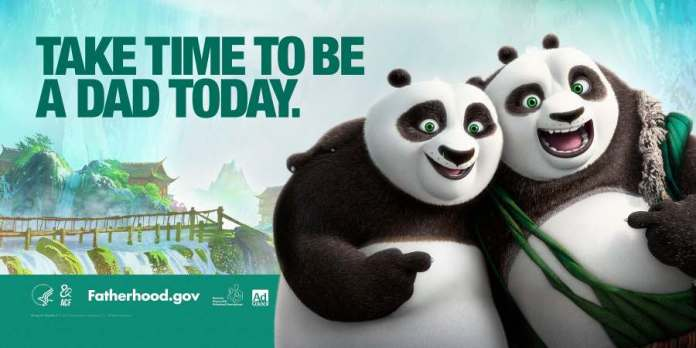 Kung Fu Panda 3 characters star in NRFC's new PSAs promoting fatherhood involvement.