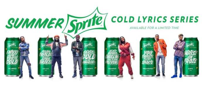 The Summer Sprite Cold Lyrics Series features six of the hottest rappers.