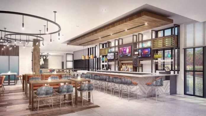 Hilton Garden Inn's new bar-centric concept from the Magnolia (North American) prototype.