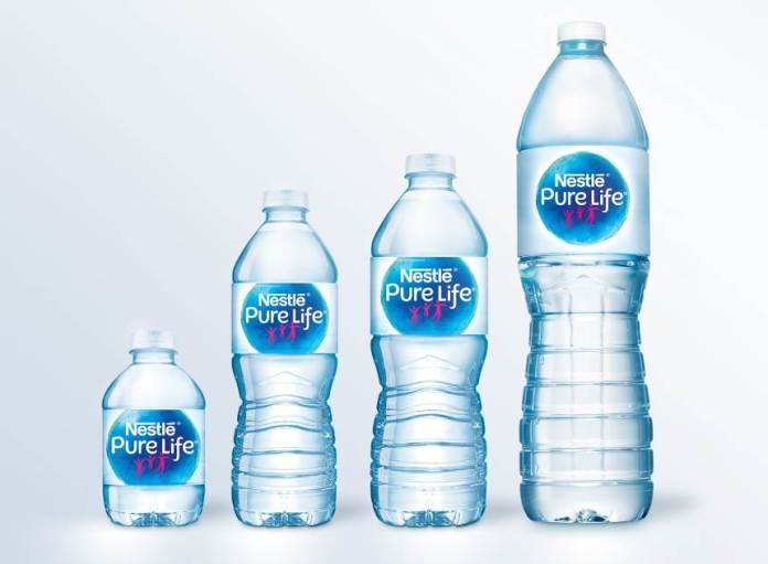Nestlé Pure Life unveils new design for the bottled water brand.