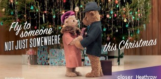 Heathrow Christmas Ad Features Lovable Bears Doris and Edward Bair