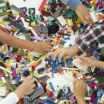 LEGO Classic bricks and hands