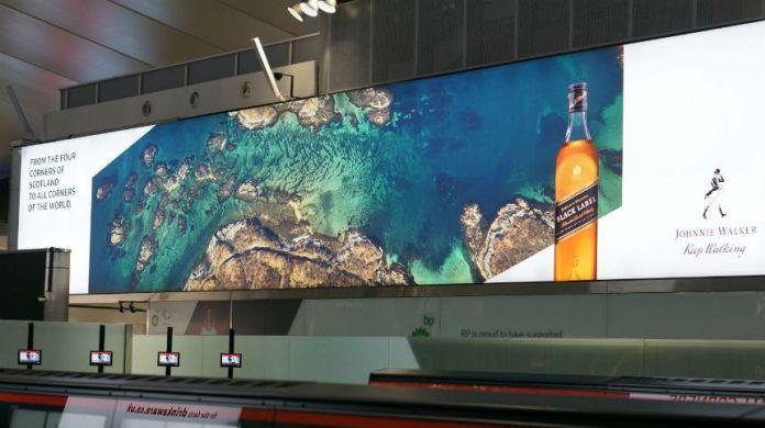 Johnnie Walker Heathrow Edinburgh Airport marketing campaign
