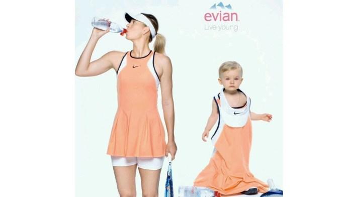 evian #WorldWaterDay advertisement