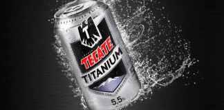 tecate titanium beer