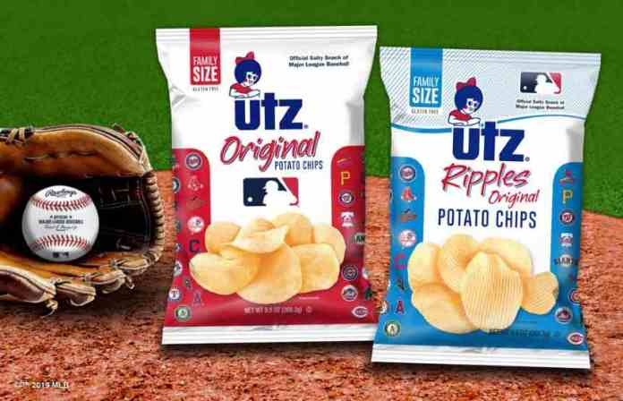 Utz reveals special MLB packaging for its Original and Ripples potato chip offerings.