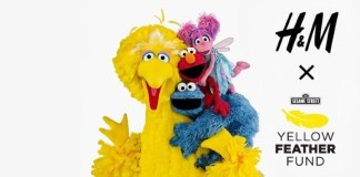 H&M USA Sesame Street Yellow Feather Fund