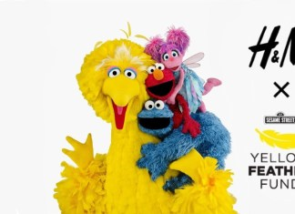 H&M USA Sesame Street Yellow Feather Fund