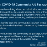 Barclays launches £100 million COVID-19 Community Aid Package
