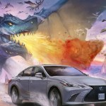 Lexus spirit is captured by Artists in their original manga artworks