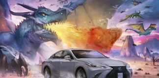 Lexus spirit is captured by Artists in their original manga artworks
