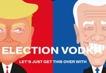 Election Vodka, inspired by the highly-anticipated US presidential race