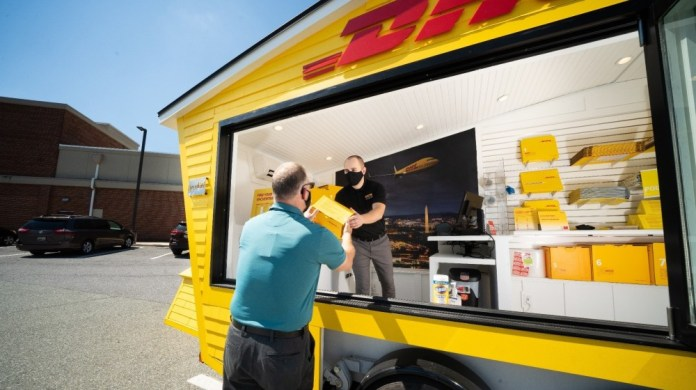 DHL opens first-of-its-kind mobile pop-up store in the US