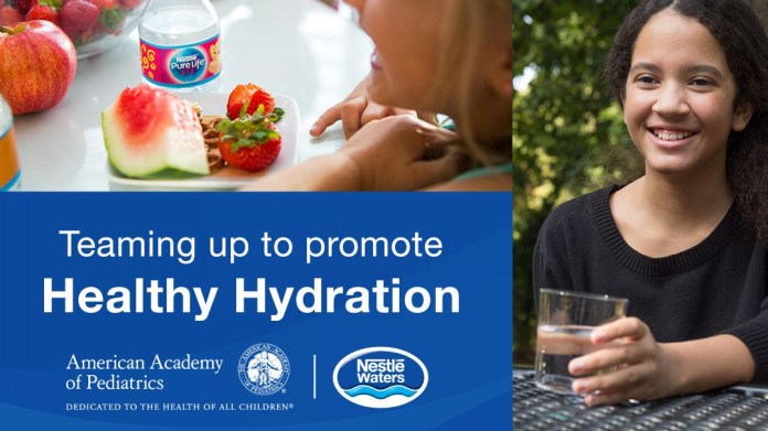 Nestlé promotes health benefits for kids drinking water