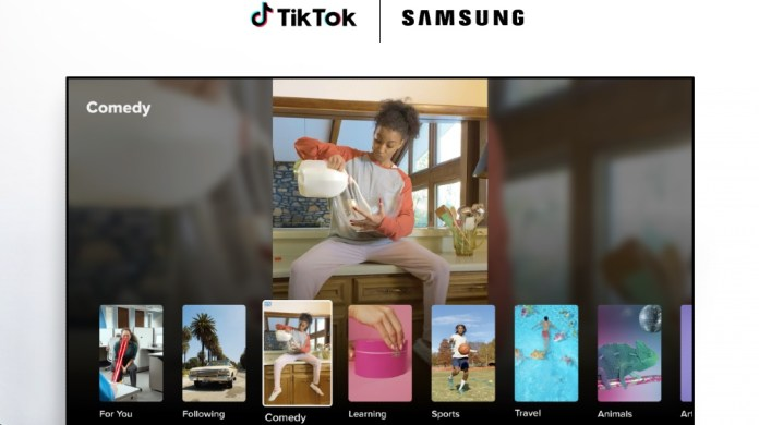 Samsung launches TikTok app on its its Smart TV's in Europe
