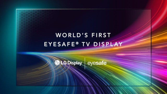 LG Display announces the world's first Eyesafe certified TV display