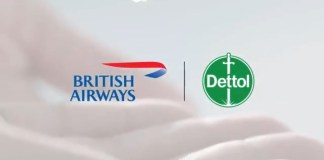 British Airways announces partnership with the makers of Dettol, RB