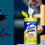 The Miami Marlins announces their partnership with Lysol