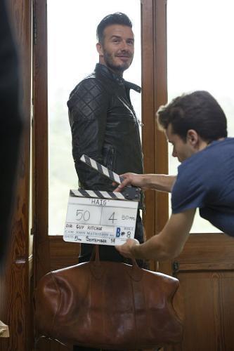 David Beckham on set during filming of the Haig Club advert