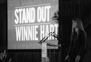 Winnie Hart of TwinEngine, co-author of Stand Out