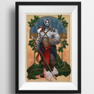 Critical Role – My Strength is in My Friends – Grog Strongjaw Print