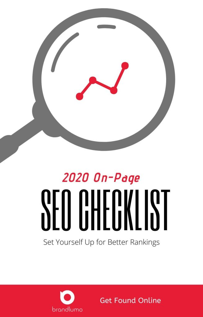 2020 SEO Checklist Cover by BrandLumo