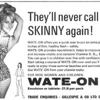 Old Adverts #14 - Wate-On, Dublin 1966.