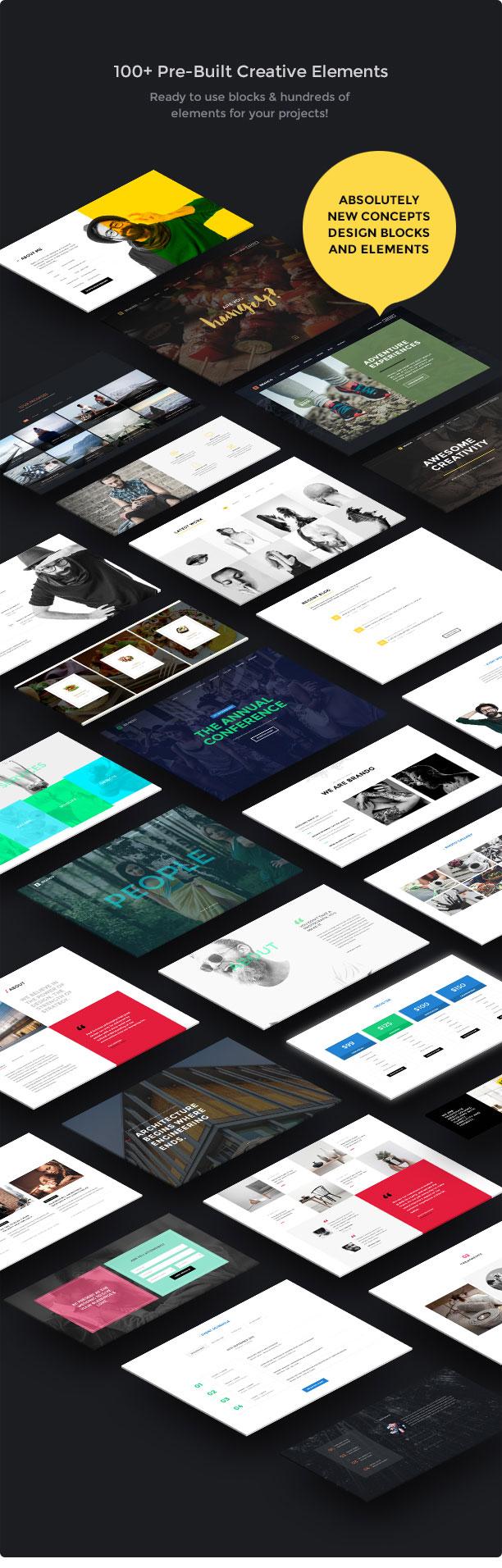 Brando Responsive and Multipurpose OnePage WordPress Theme - 22