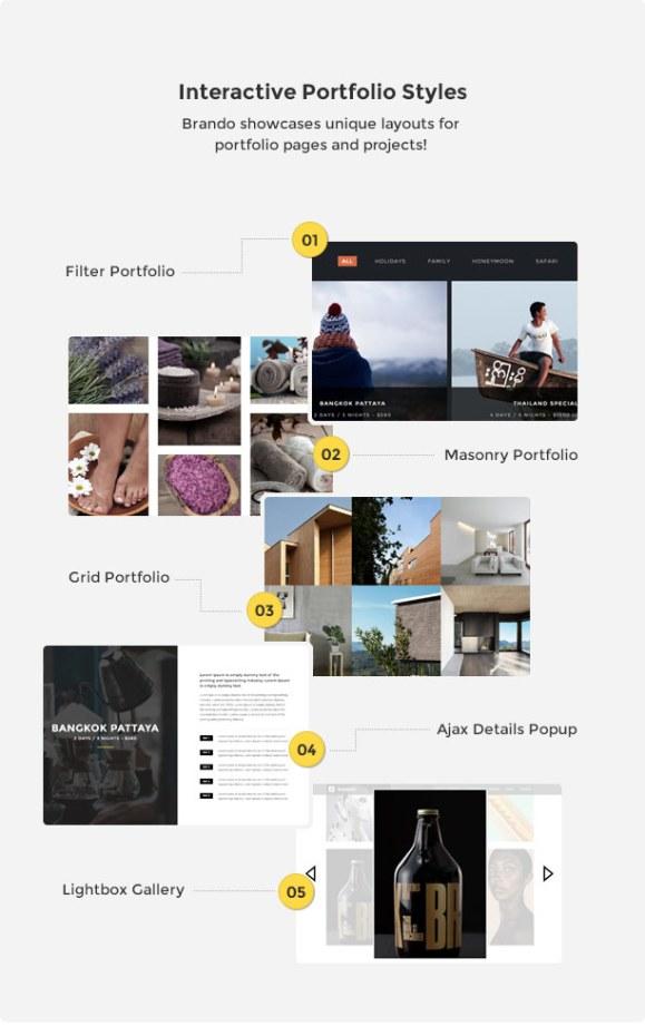 Brando Responsive and Multipurpose OnePage WordPress Theme - 21