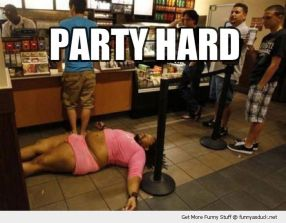 funny-fat-guy-womans-clothes-skirt-sleeping-shop-passed-out-party-hard-pics