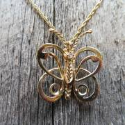 14K Gold & Diamond Butterfly