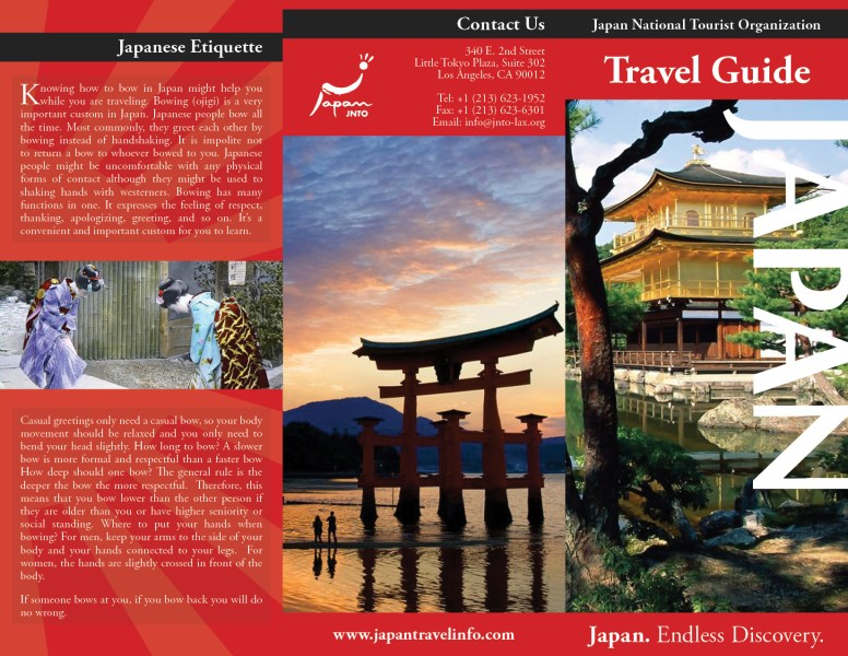 Japan Travel Brochure Examples