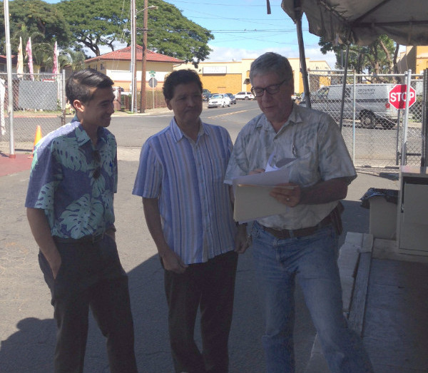 Councilmember Menor and I took a tour of the Lighthouse temporary shelter in Waipahu.