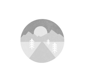 Brandon Ferguson logo, designed like a patch with backroad imagery going into the sunset in all white