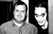 Alex Proyas, director of The Crow, with Brandon Lee. Jan, 1993.