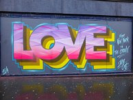 """LOVE from New York to The Cronx,"" 2015, mural in Croydon, London, UK."