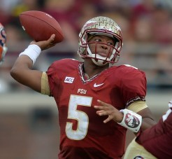 Jameis throwing downfield