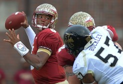 Jameis Winston throws downfield