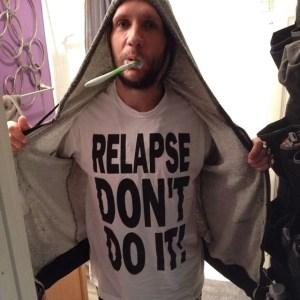novak in relapse don't do it shirt