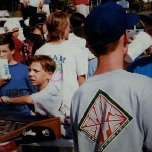 Young Brandon Novak in crowd