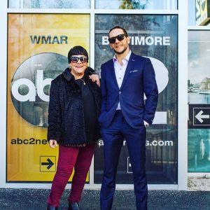 Novak & mother in Baltimore