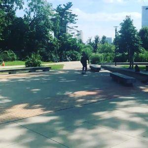 Brandon skating in park