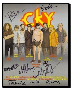 Brandon Novak CKY Autographed Poster